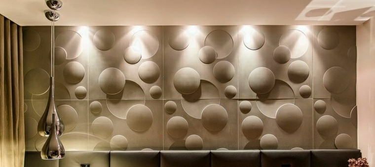 decoracion de paredes 3D moderno salon castelatto ideas