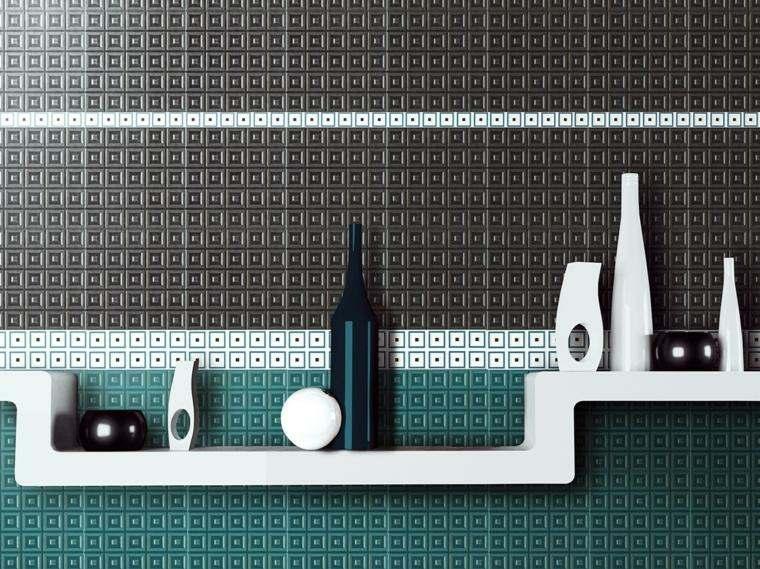 decoracion de paredes 3D mosaico cerasarda ideas