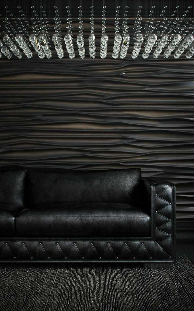 decoracion de paredes 3D negro elegante ideas
