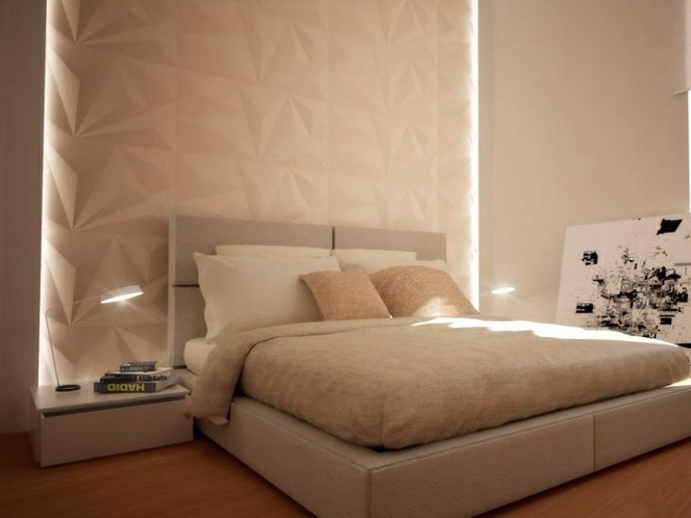 decoracion de paredes 3D pared color blanco original ideas
