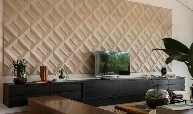 decoracion de paredes 3D salon moderno castelatto
