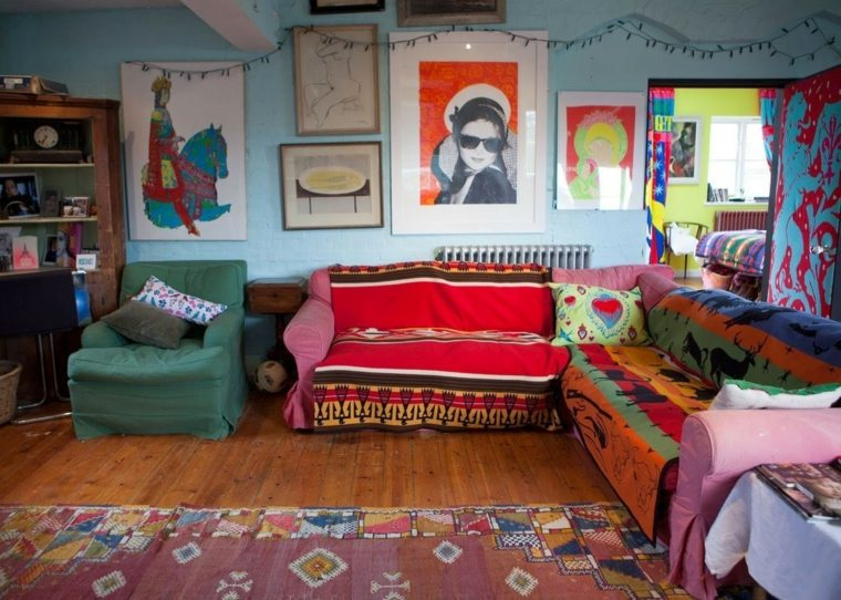 decoracion estilo boho hippie colores