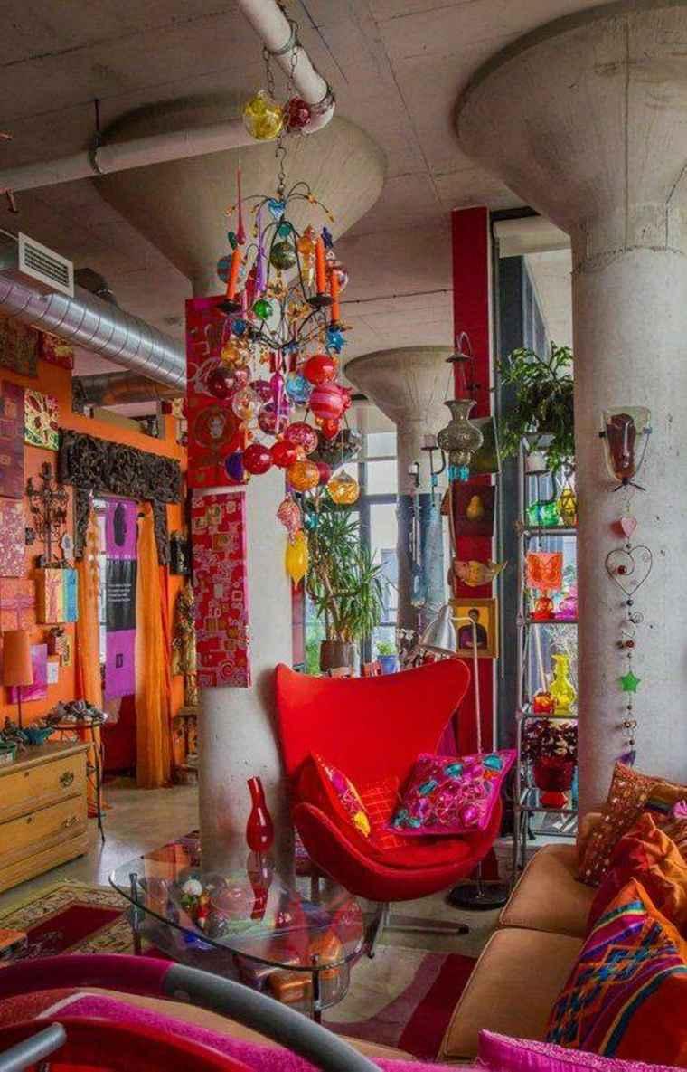decoracion exótica colores brillantes