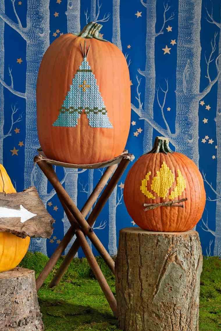 decoración otoño calabazas
