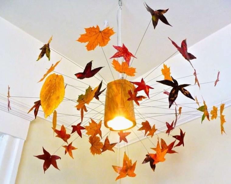 Decoraci n con hojas secas para el oto o - Hojas de otono para decorar ...