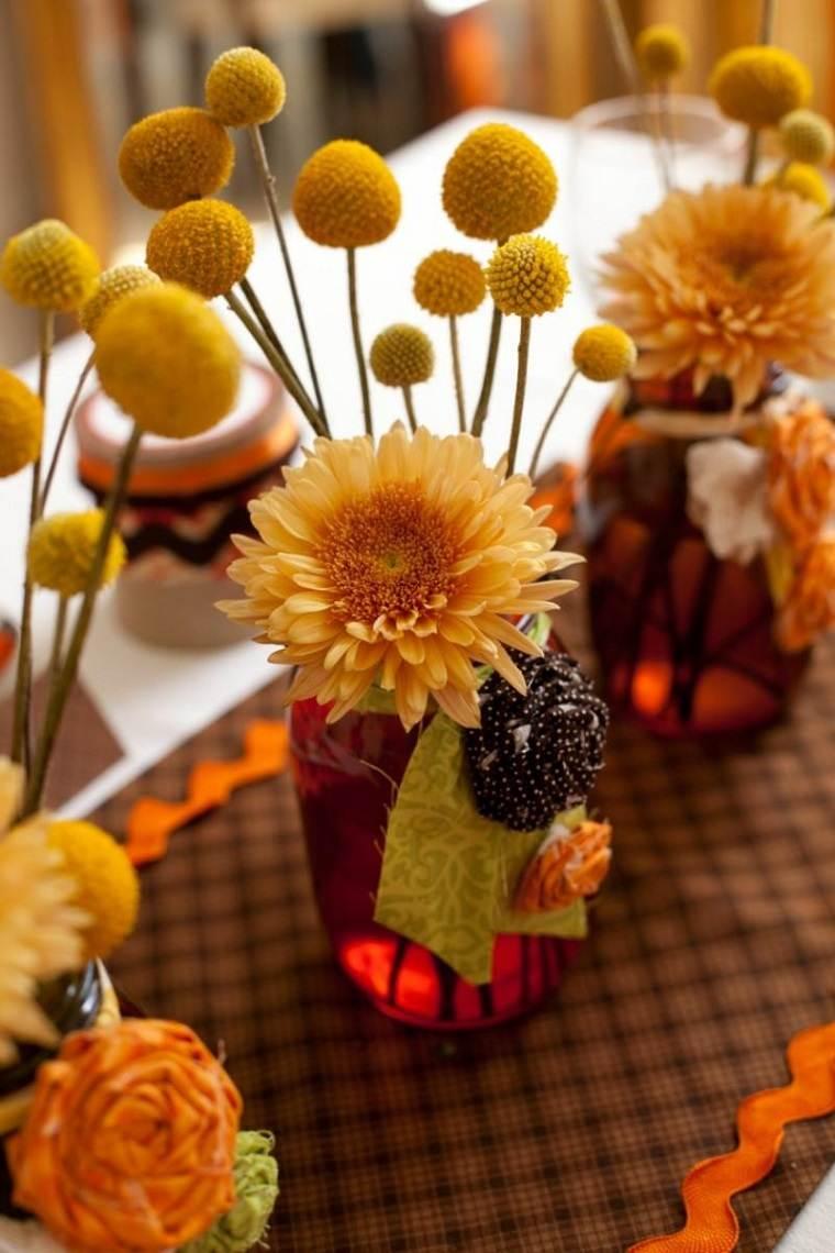 decoracion otono mesa bonito arreglo ideas