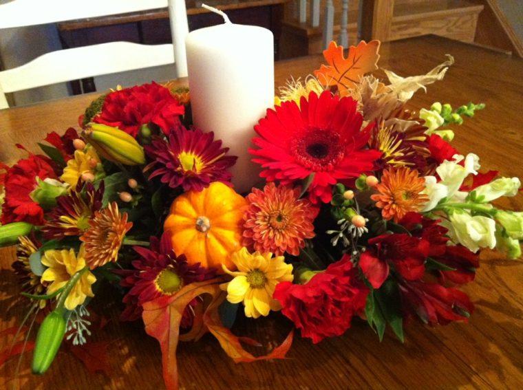 decoración otoño mesa