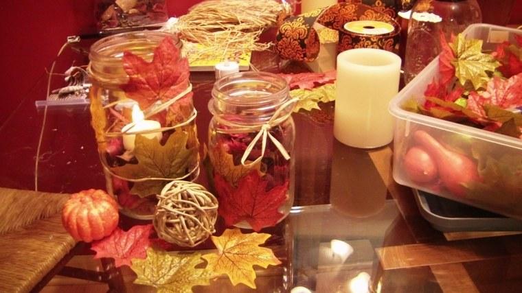 decoración otoño salón