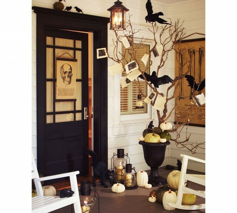 decoracin para halloween cuervos