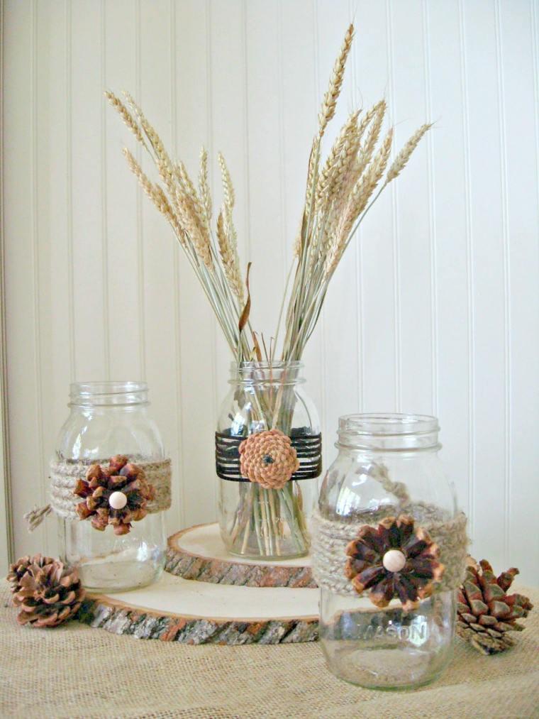 decoración piñas otoño
