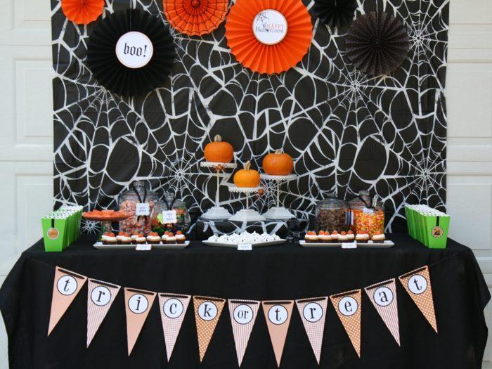 decorados fiestas manteles mesas naranja