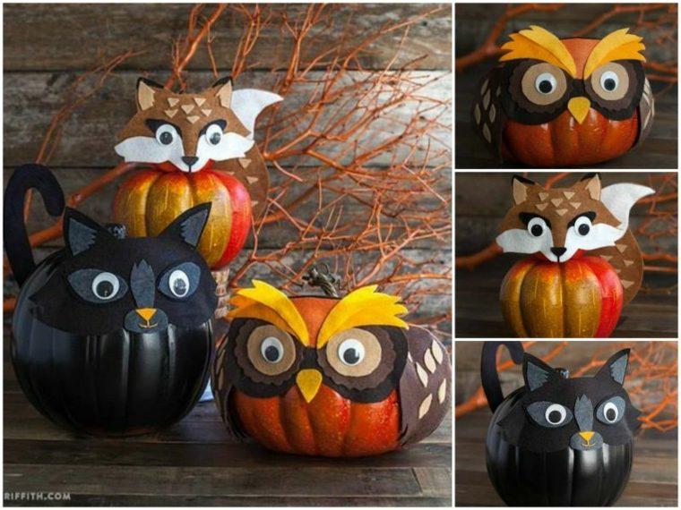 Calabazas de halloween c mo decorarlas for Decoracion de calabazas para halloween
