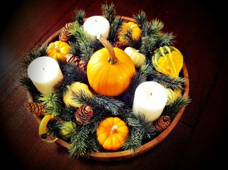 decorar con piñas mesa