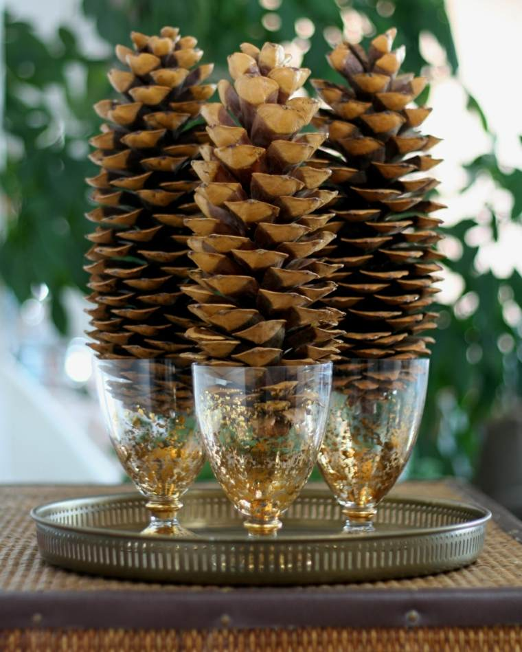 decorar con piñas vasos