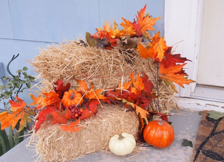 decorar hoja otoño exterior