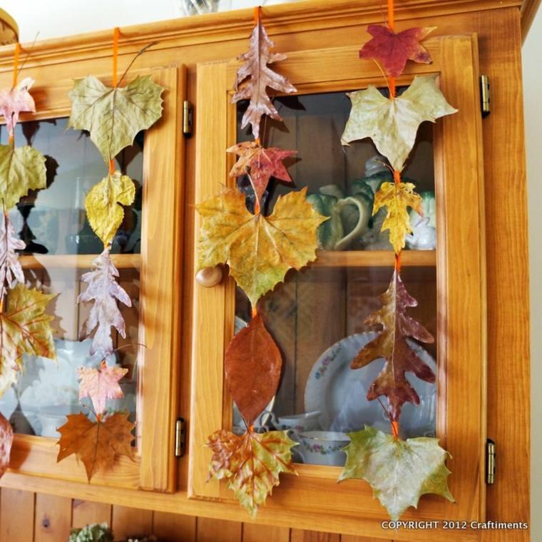 decorar hoja otoño