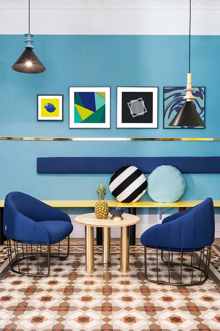 decorar paredes ideas colores cuadros redondos