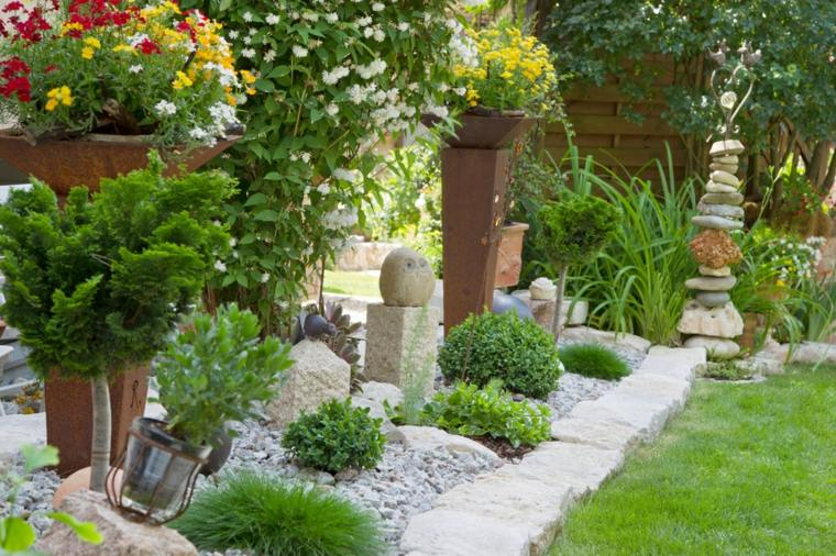 diseño de jardines ideas esculturas estilos colores
