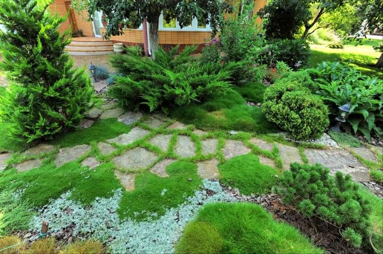 diseño de jardines ideas perennes plantas verdes