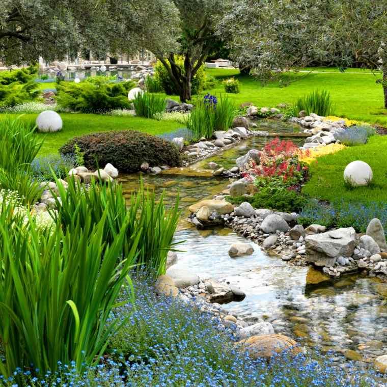 diseño de jardines ideas riachuelo plantas