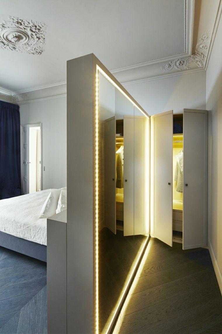 diseño interior habitacion vestidos luces