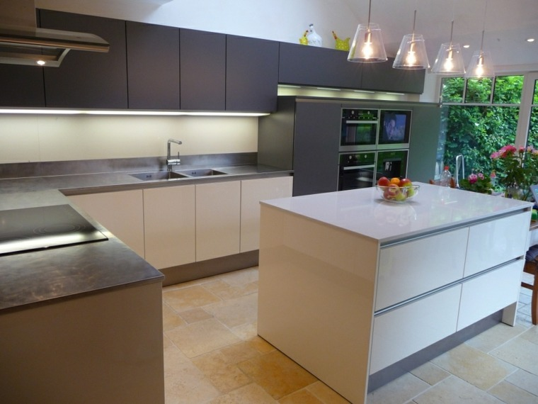 diseños encimeras modernas cocina