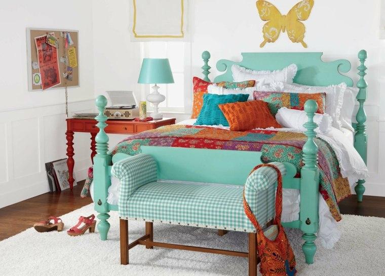 diseño cama infantil color celeste