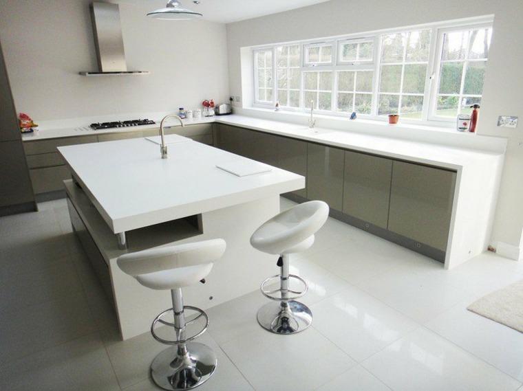 diseño cocina moderna blanca