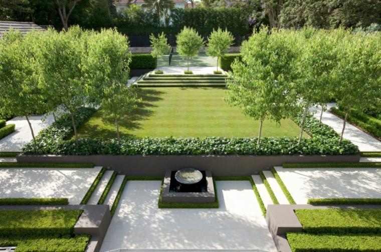 diseno jardines paisajes modernos césped