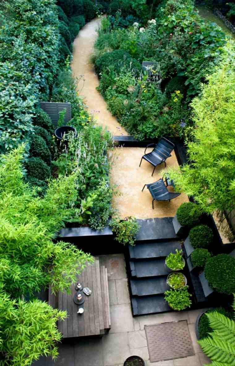 diseno jardin camino plantas