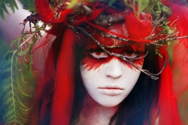 disfraces para halloween ideas plumas tonos