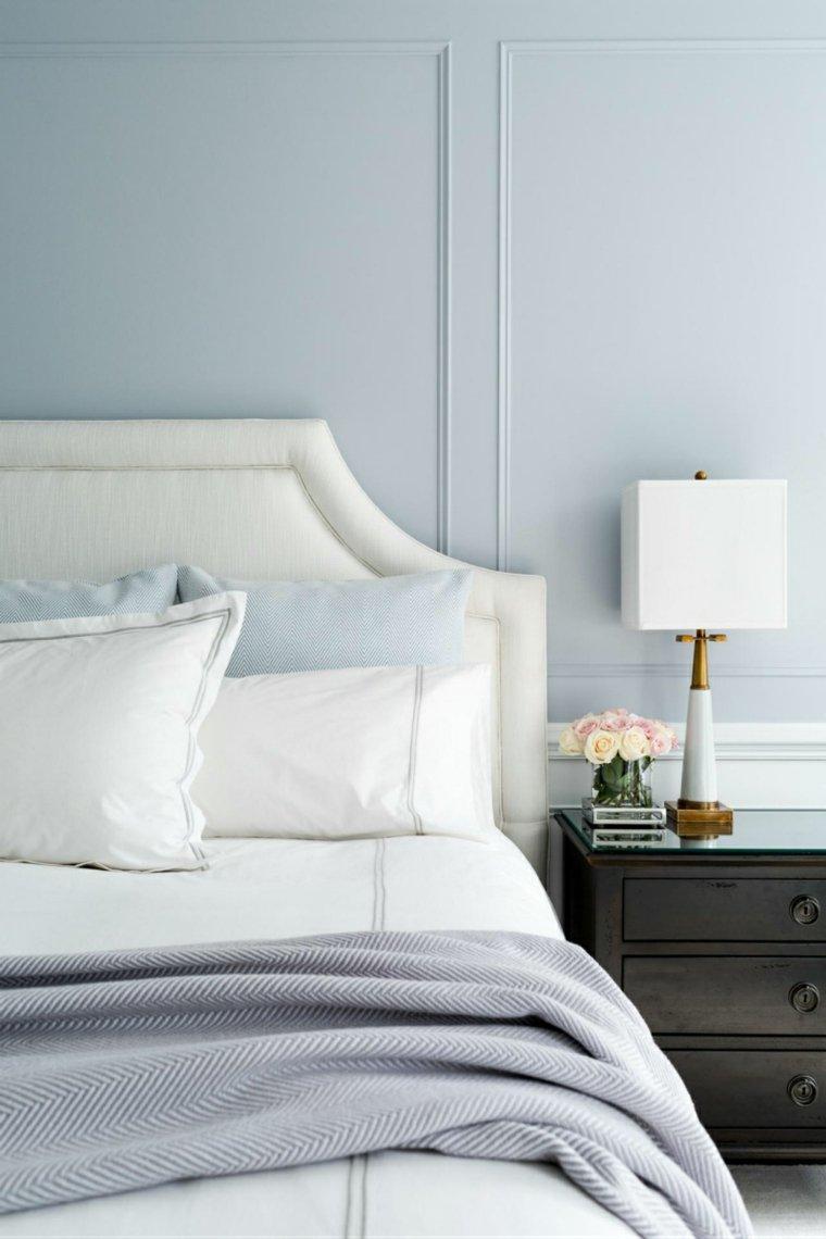 dormitorio bonito color celeste