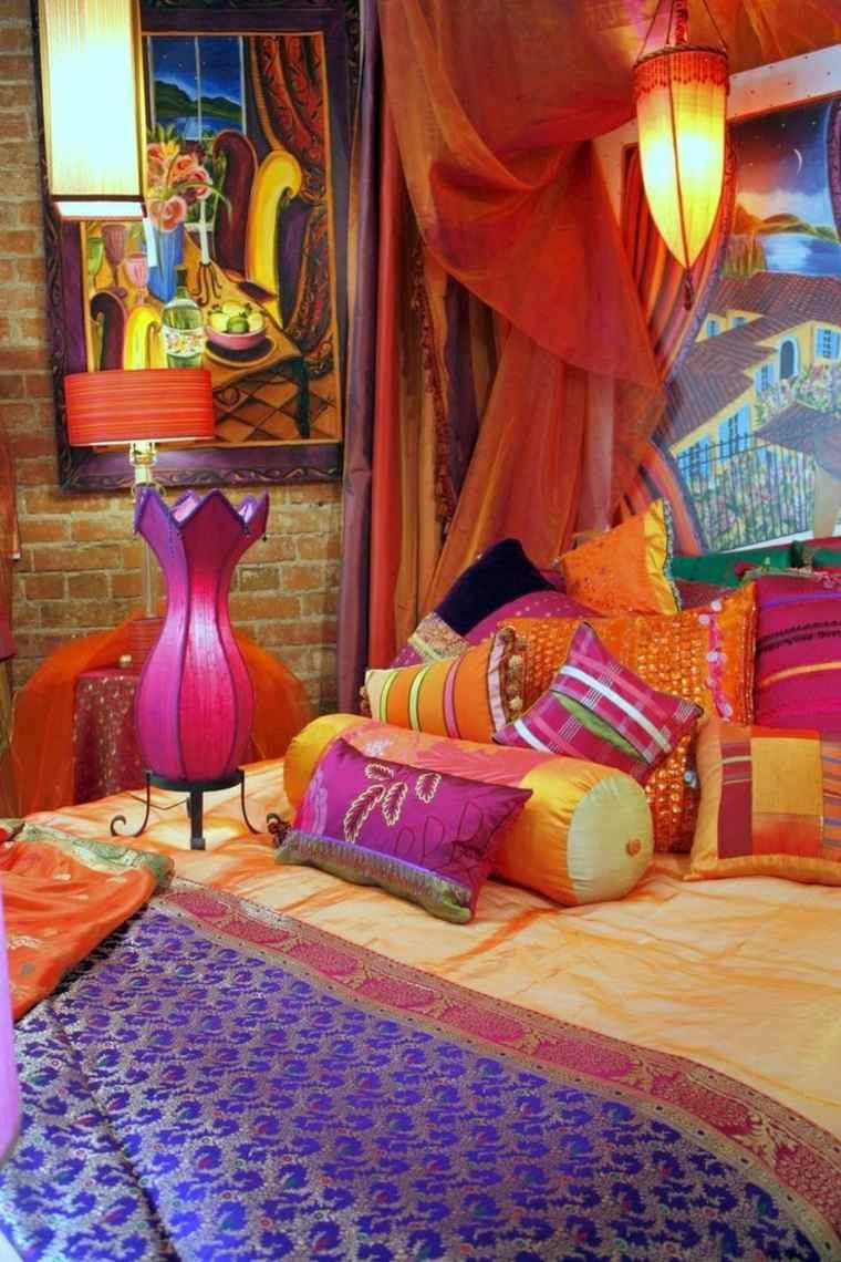 dormitorio decorado impresionantes colores brillantes