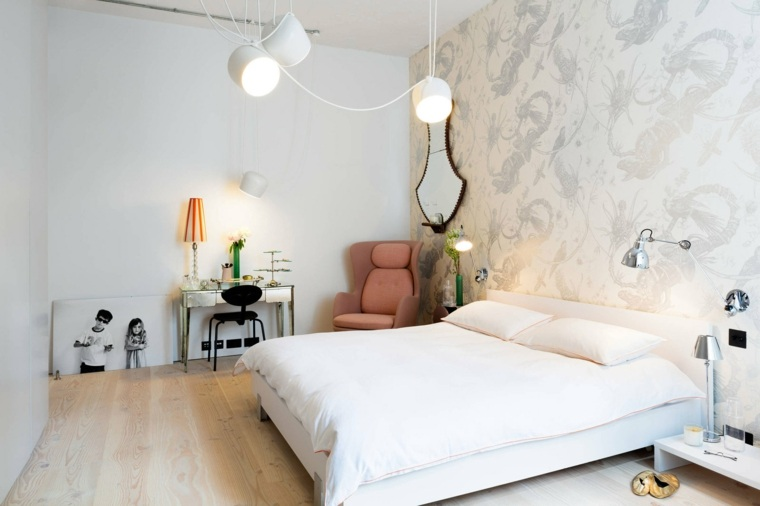 dormitorios con encanto decoracion blanco simple ideas