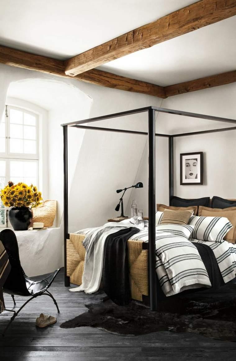 dormitorios encanto decoracion cama dosel negro ideas