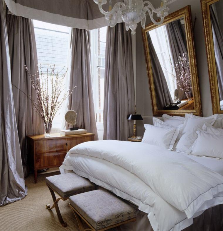 dormitorios encanto decoracion espejo grande ideas