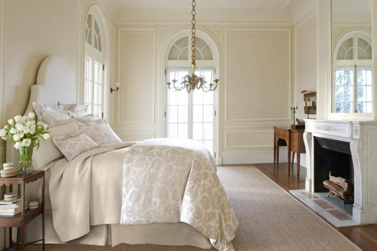 dormitorios encanto decoracion lujo chimenea ideas