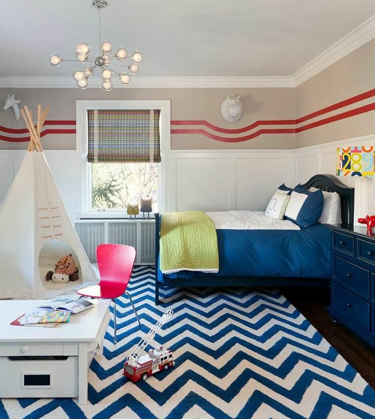 dormitorios juveniles modernos opciones decoracion alfombra ideas