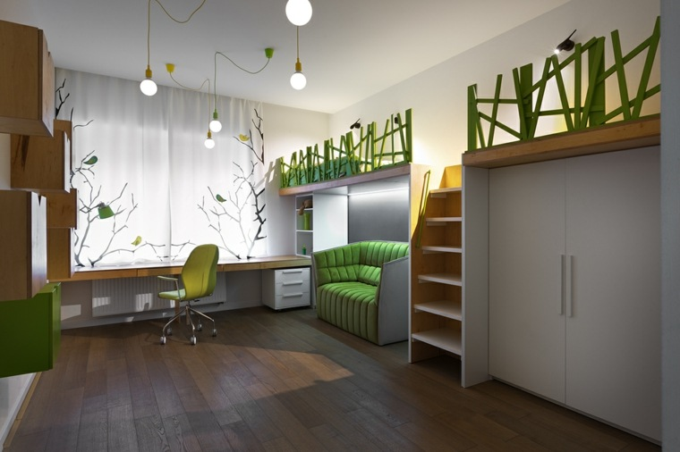dormitorios juveniles modernos opciones decoracion camas altas ideas