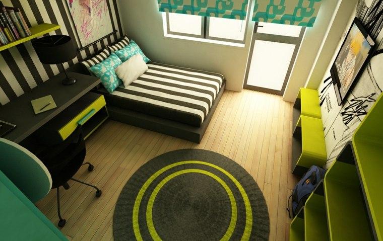 dormitorios-juveniles modernos opciones decoracion espacios pequenos ideas
