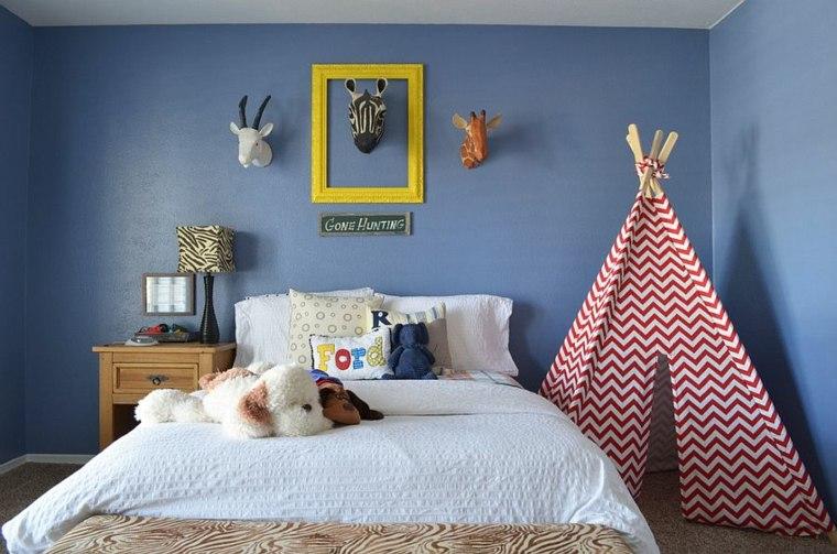 dormitorios juveniles modernos opciones decoracion tienda campana ideas