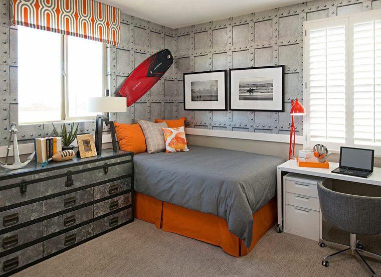 dormitorios juveniles opciones decoracion cama esquina ideas