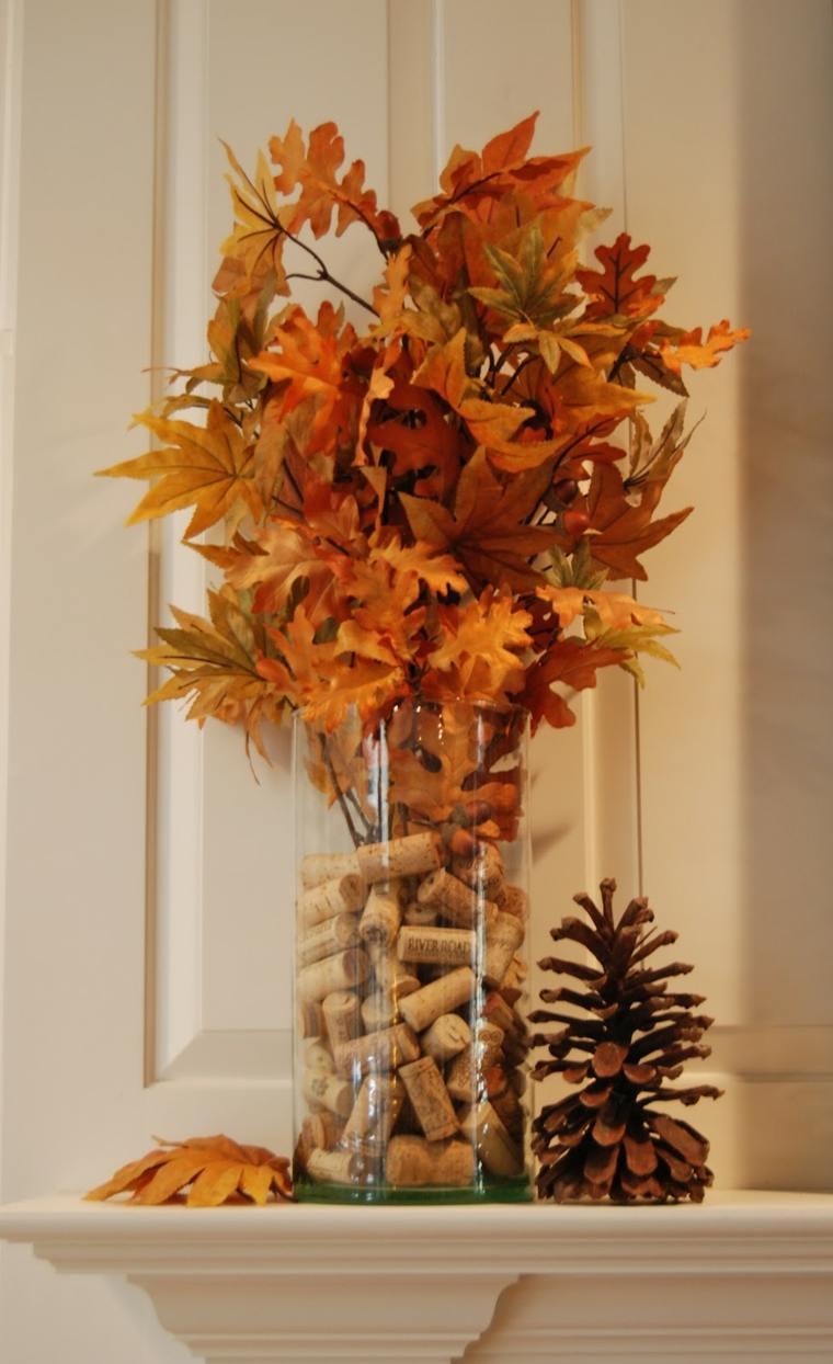 Decorar con pi as para un interior oto al - Decorar hojas de otono ...