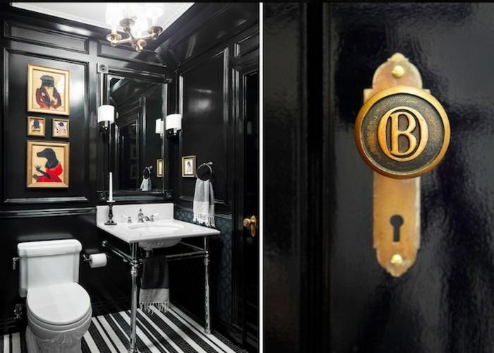 elegante pequeña salones baño lineas