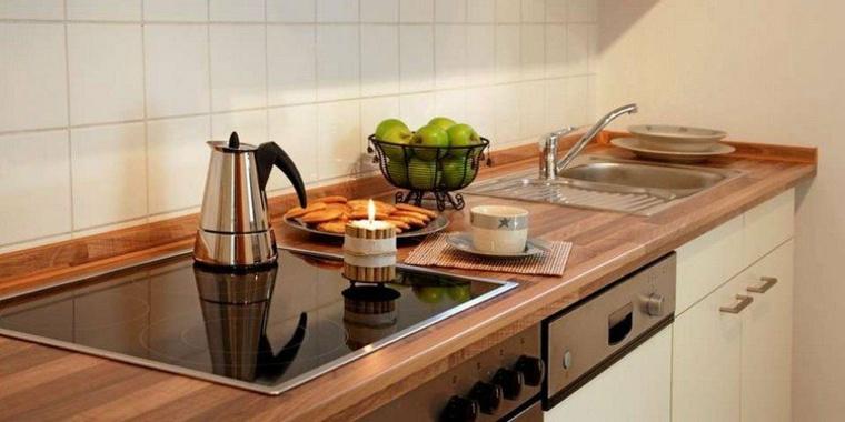 encimera cocina madera laminada bloque carnicero