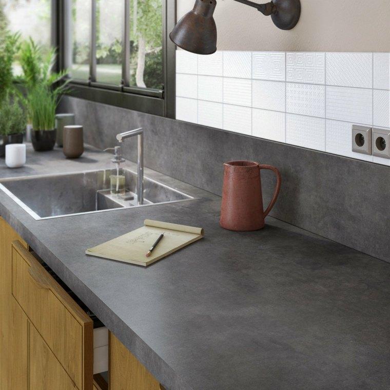 Encimeras cocina superficies funcinales y modernas - Encimeras de cemento ...