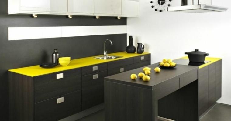 encimeras cocina diseno color amarillo
