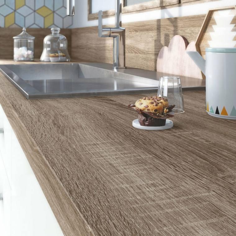 Encimeras cocina superficies funcinales y modernas - Encimeras madera cocina ...