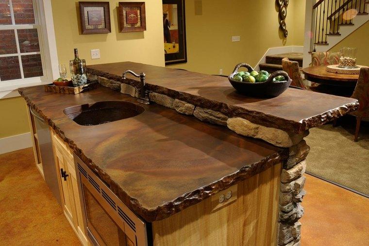 encimeras para cocinas madera