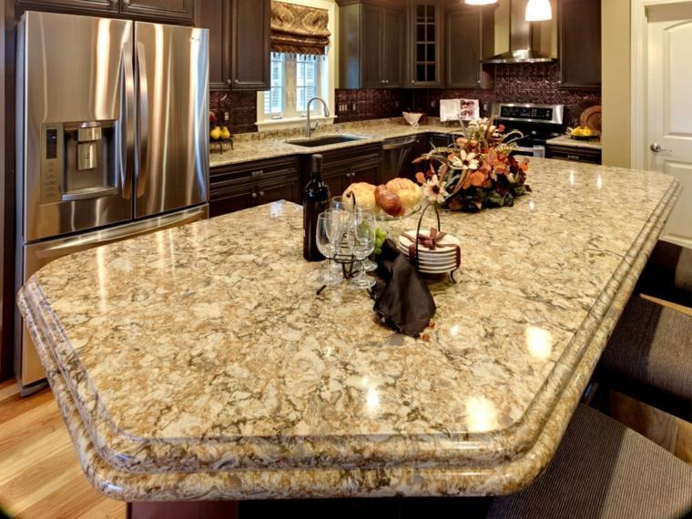 Encimeras para cocinas lo que debemos saber - Tipos de marmol para cocina ...